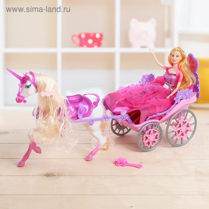"""Карета для куклы """"Джини"""", с куклой и лошадкой"""
