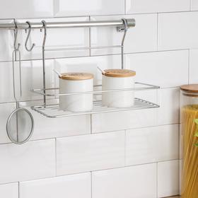 Рейлинговая система для кухни Tekno-tel, 6 предметов, цвет хром