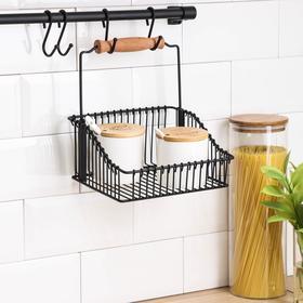 Рейлинговая система для кухни Tekno-tel Re'Black, 8 предметов, цвет чёрный