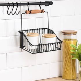Рейлинговая система для кухни Tekno-tel Re'Black, 9 предметов, цвет чёрный