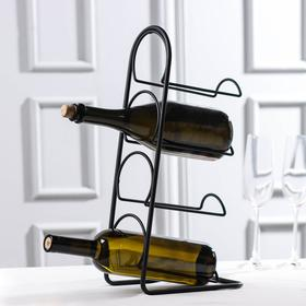 4-piece bottle holder Tekno-tel, black