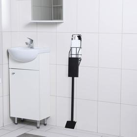 Стойка для антисептика с педалью Tekno-tel, мобильная, цвет чёрный