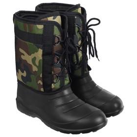 Сапоги зимние «Аляска» мужские, цвет чёрный, на шнуровке, размер 43/44