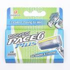 Набор Dorco PACE6 Plus 4 кассеты, 6 лезвий + лезвие триммер - фото 7452980