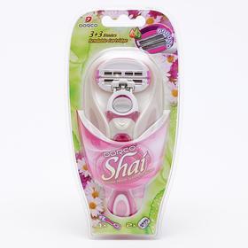 Набор женский Dorco SHAI Sweetie 1 станок + 2 кассеты, 6 лезвий 3+3
