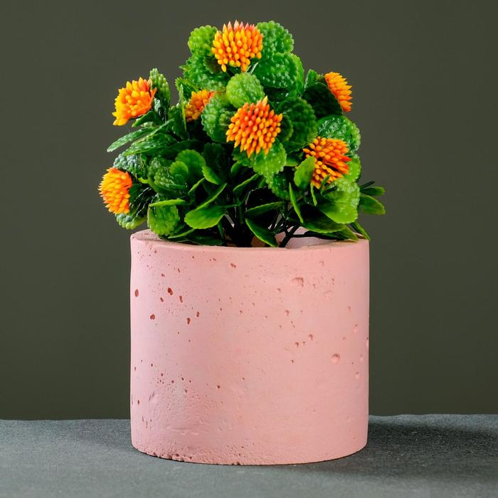 Кашпо Цилиндр, розовое - фото 862601