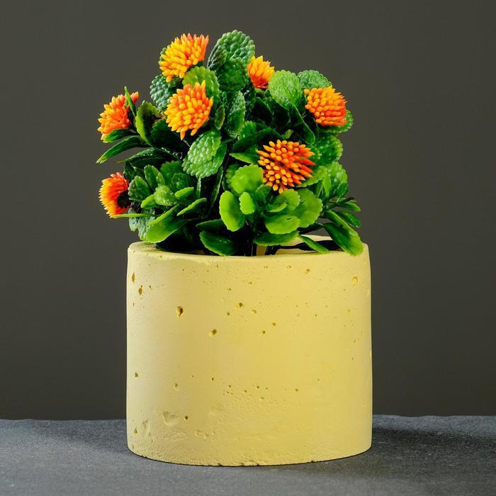Кашпо Цилиндр, желтое - фото 862605