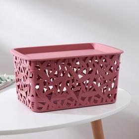 Корзина универсальная Бытпласт, 3ХL, 29,3×19,3×14,7 см, цвет тёмно-розовый