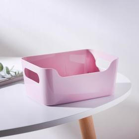 Корзина универсальная, 1,2 л, 17×12×7,5 см, цвет розовый