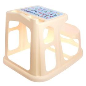 Стол-парта детская с аппликацией, 730х550х500 мм, цвет бежевый