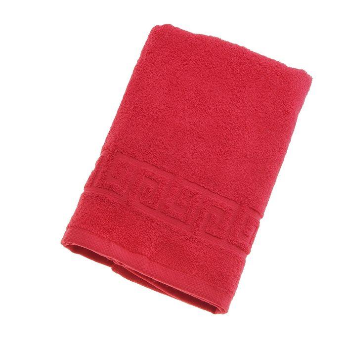 Полотенце махровое однотонное Антей 40х70 см, красный, 100% хлопок, 430 гр/м2