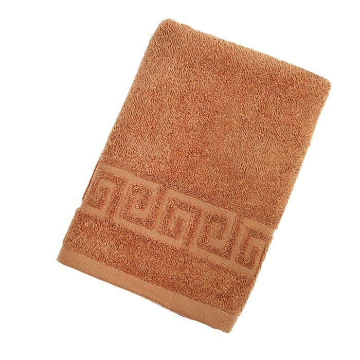 Полотенце махровое однотонное Антей цв жаренный орех 40*70см 100% хлопок 430 гр/м2