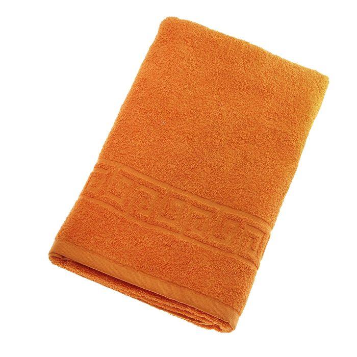 Полотенце махровое однотонное Антей цв оранжевый 40*70см 100% хлопок 430 гр/м2