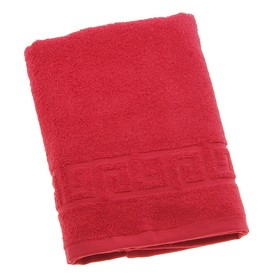 Полотенце махровое однотонное Антей цв красный 50*90см 100% хлопок 430 гр/м2 Ош