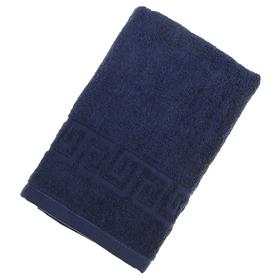 Полотенце махровое однотонное Антей цв синий 50*90см 100% хлопок 430 гр/м2