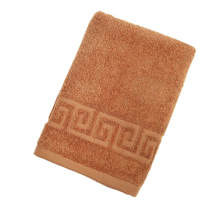 Полотенце махровое однотонное Антей 70х140 см, жаренный орех, 100% хлопок, 430 гр/м2