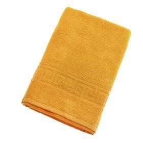 Полотенце махровое однотонное Антей, цвет жёлтый, 70х140 см