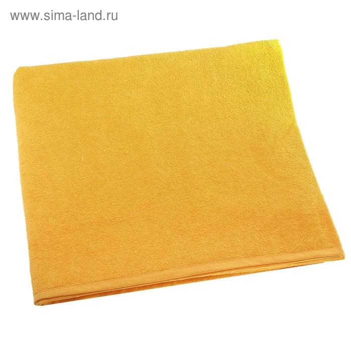 """Простыня махровая однотонная """"Антей"""" цвет желтый 190*200 см 100% хлопок 340 гр/м"""