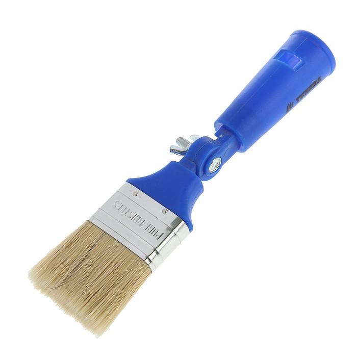 Кисть плоская TUNDRA comfort, поворотная, 50 мм, ручка пластик, натуральная щетина