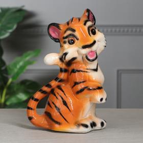 "Копилка ""Тигрёнок"", глянец, оранжевый, 29 см"