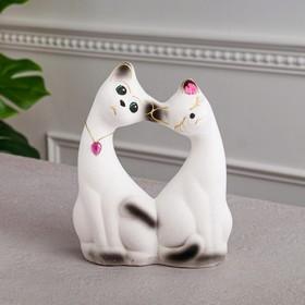 """Копилка """"Влюбленная пара"""", покрытие флок, белая, 20 см"""