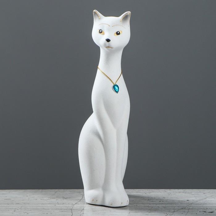 """Копилка """"Кошка Мурка"""", покрытие флок, белая, 28 см, микс"""