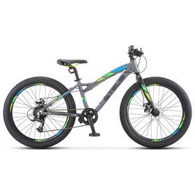 "Велосипед 24"" Stels Adrenalin MD, V010, цвет антрацитовый, размер 13,5"""