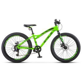 "Велосипед 24"" Stels Adrenalin MD, V010, цвет неоновый лайм размер 13,5"""