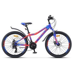 """Велосипед 24"""" Stels Navigator-410 MD, V010, цвет синий/неоновый красный, размер 12"""""""