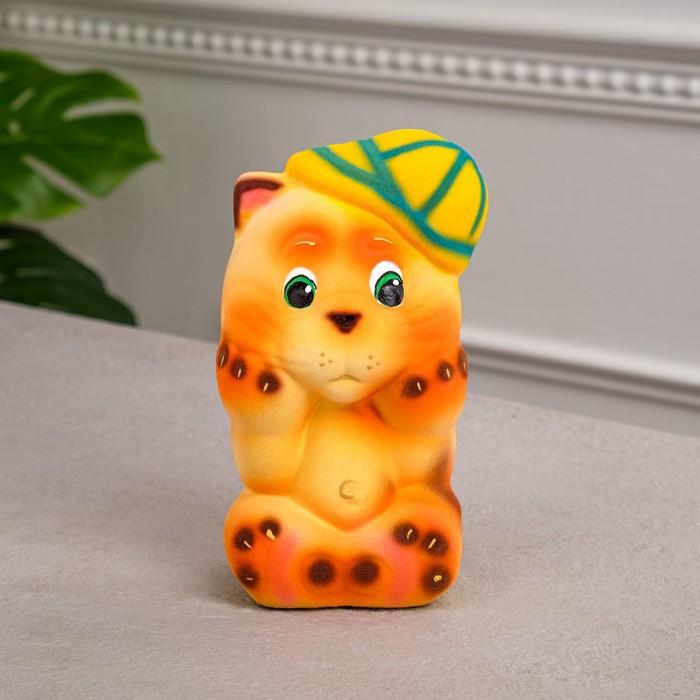 """Копилка """"Кот Хулиган"""", покрытие флок, оранжевый, 16 см, микс"""