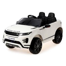 Электромобиль Range Rover Evoque, кожаное сиденье, EVA колеса, цвет белый