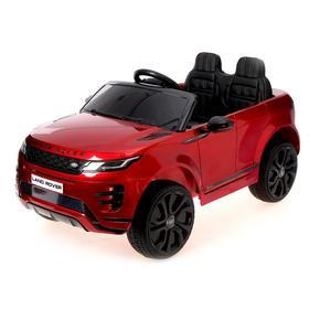 Электромобиль Range Rover Evoque, кожаное сидение, EVA колеса, цвет бордовый глянец