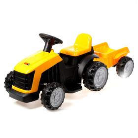 Детский электромобиль «Трактор», с прицепом, цвет жёлтый