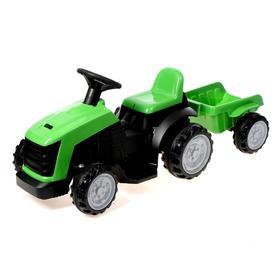Электромобиль «Трактор», с прицепом, цвет зелёный