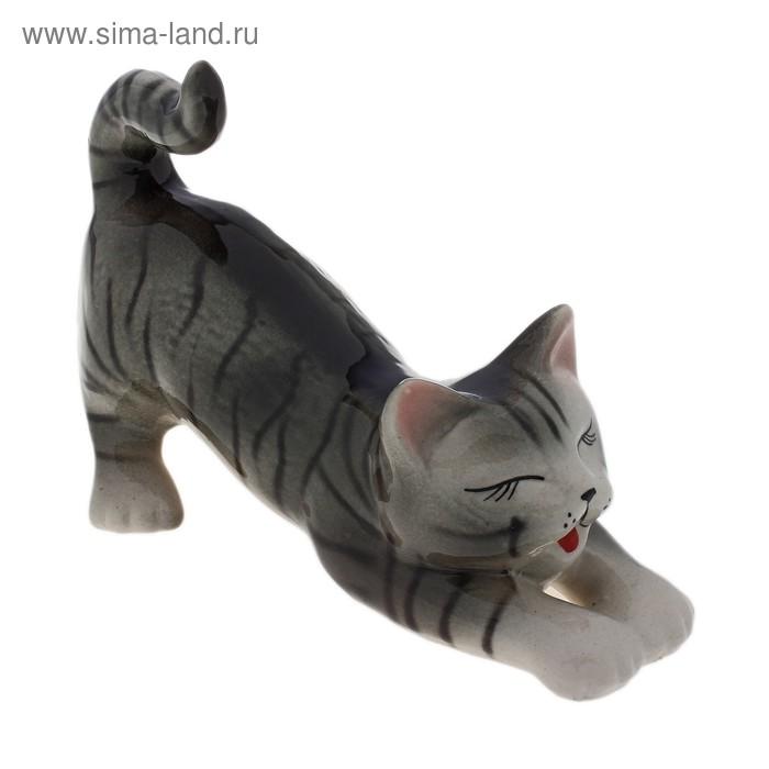 """Сувенир """"Кошка Цаца"""" глянец, серый"""