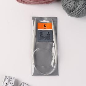 Circular knitting needles aluminum 6mm * 60cm.