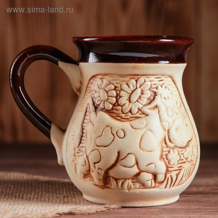 "Чашка молочная ""Корова"" шамот, 0,3 л"