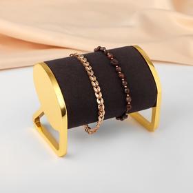 """Подставка под браслеты """"Классика"""" h=6.5, цвет чёрный в золоте"""