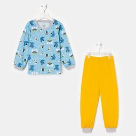 Пижама для мальчика, цвет голубой, рост 104