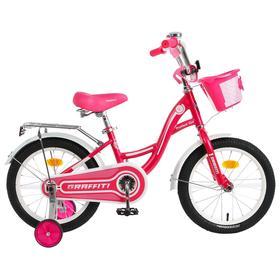 """Велосипед 16"""" Graffiti Premium Girl, цвет розовый/белый"""