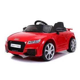 УЦЕНКА Электромобиль AUDI TT RS, цвет красный, EVA колеса, кожаное сидение