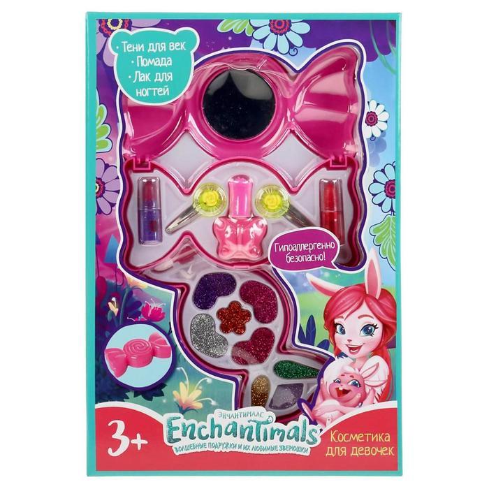 Косметика для девочек «Энчантималс», тени для век, помада, лак для ногтей, заколки - фото 317382