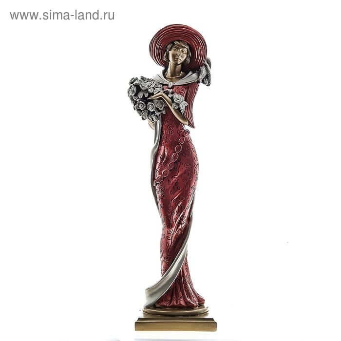 """Статуэтка """"Дама с цветами"""" большая"""