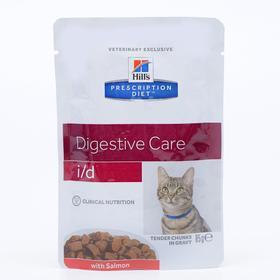 Влажный корм Hill's PD i/d Digestive Care, для кошек, при расстройствах ЖКТ, лосось,85 г