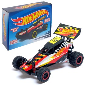 Buggy radio-controlled, 2.4GHz, 2WD, speed up to 20km / h, scale 1:32, trigger remote, color red