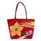 сумка пляжная Цветочек с пайетками,  цв.микс