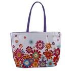 сумка пляжная Цветы клеенка, 49*36*14, цв.микс