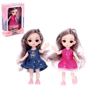 Кукла модная шарнирная «Кира» в платье, МИКС
