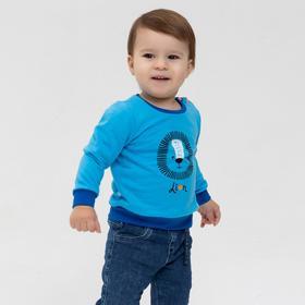 Свитшот для мальчика, цвет голубой, рост 86 см