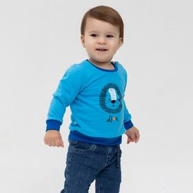 Свитшот для мальчика, цвет голубой, рост 104 см
